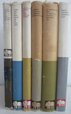 "De Witte Olifant; Lot with 6 volumes from the ""Witte Olifant"" series by Van Oorschot - 1960 / 1965"