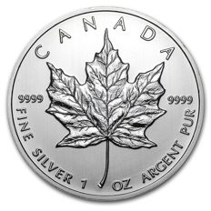 Canada - 5 dollars 2012 - maple leaf - 1 oz 999 silver / silver coin