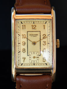 ANCRE PRIMA - Art Deco men's wristwatch from 1940s.