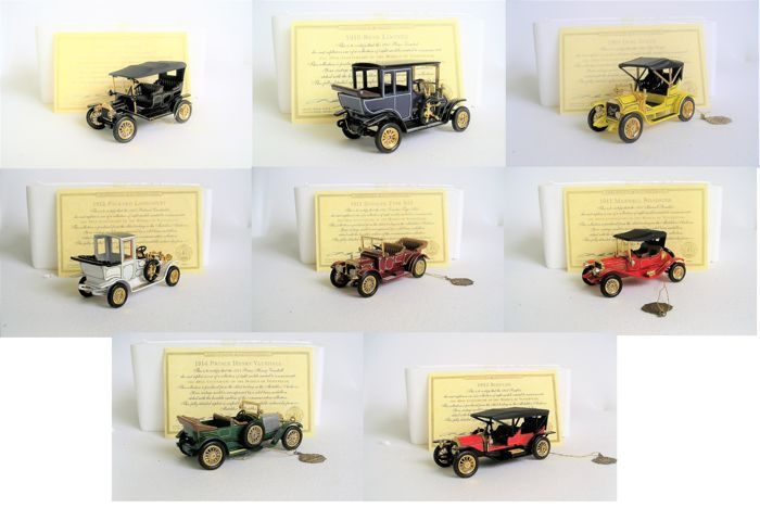 "Matchbox-Yesteryear - Schaal ca1/55 - Matchbox complete serie van 8 stuks ""The 40th Anniversary of the Models of Yesteryear"""