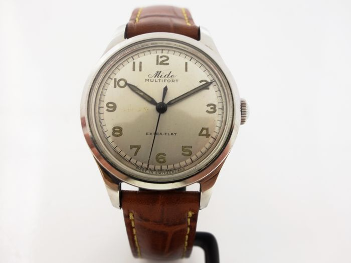 Mido Multifort Extra-Flat Men's WristWatch 1960's