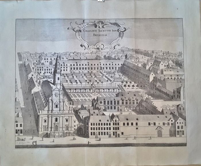 Belgio, Bruxelles - R.Blokhuysen - Set of 4 engravings of church buildings - 1738