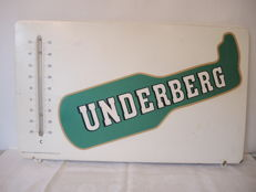 Underberg metal advertising sign - with thermometer - circa 1960