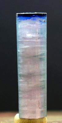 Blue Cap Natural Tourmaline Crystal - 33 x 09 x 09 mm - 31 ct