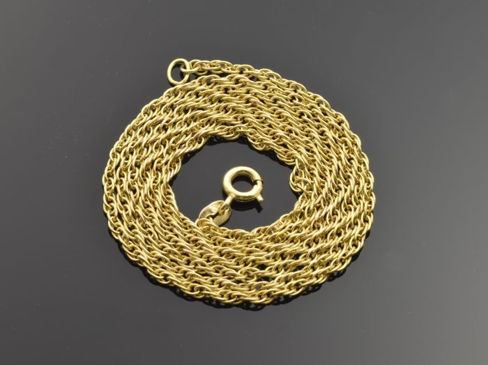18 kt gold necklace. Length: 60 cm ***No reserve price***