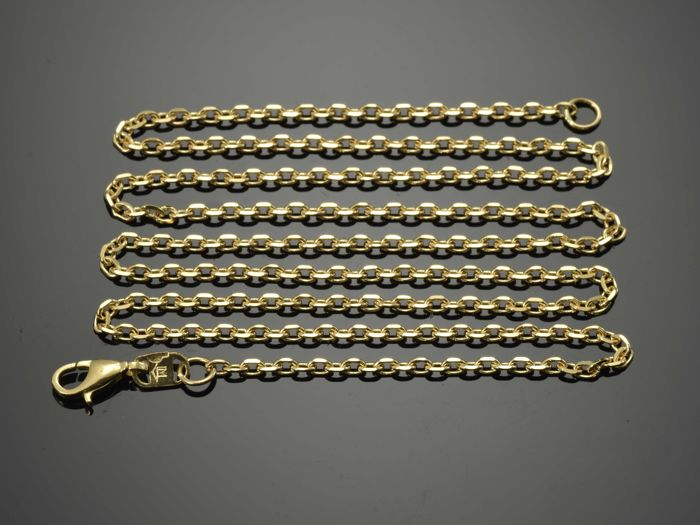 18k Gold Necklace. Chain - 50 cm - No reserve price.