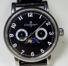 Cortebert Calendar Moonphase Ornated Bezel - Men's Wristwatch