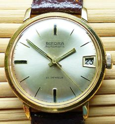 BIFORA 655 automatic 21 jewels with date -- men's wristwatch from the 1960s