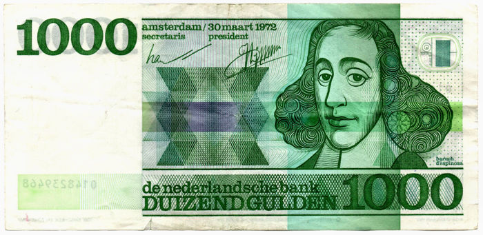 Netherlands - 1,000 guilders 1972 - Spinoza - mevius 155-1