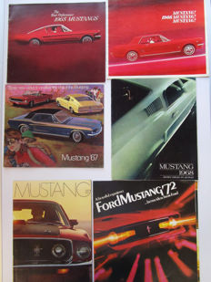Ford Mustang - Lot of 6 original brochures - from 1965 to 1969 & 1972
