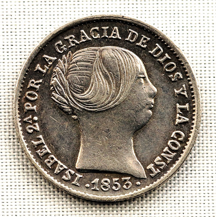 Spain - Isabel II - 1 Real silver coin - 1853 - Seville