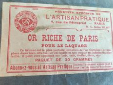 ''Or de Paris''- 30 grams for gilding mirrors etc.