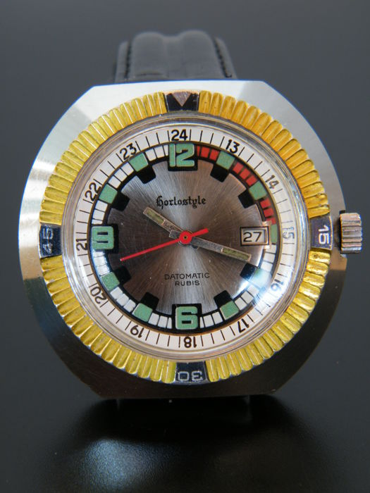 HORLOSTYLE DATOMATIC DIVER - Men's wristwatch from 1970s - Very good condition.
