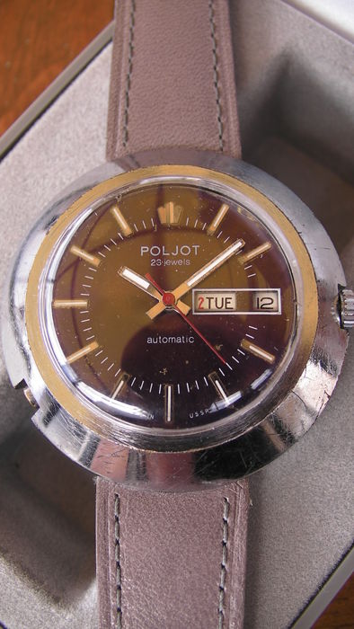 POLJOT UFO - Made in USSR - Mens - 1980 - vintage - 23 Jewels - automatic