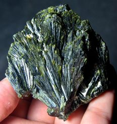 New Find Top Quality  Epidote Crystal Bunch - 70 x 65 x 20 mm - 142 gm