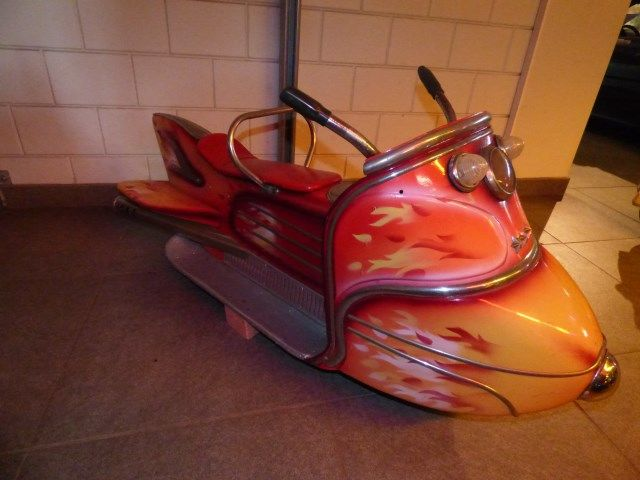 Snowmobile from Belgian merry-go-round L'autopede