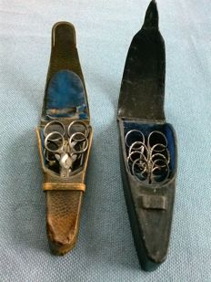 Two sets of craft scissors, 1st half of 20th century