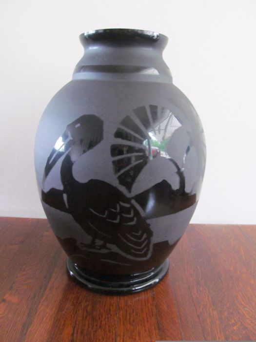 Artver - Art Deco vase with pelican - Design by Paul Heller