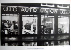 Auto Union Dealership/Showroom 1936 - Audi/DKW/Horch/Wanderer (Great Photo Print)