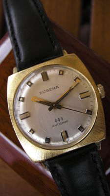 DUGENA 444 – Swiss made – Men's – 1970 – vintage classic – 17 Jewels – Gold plated 20 microns