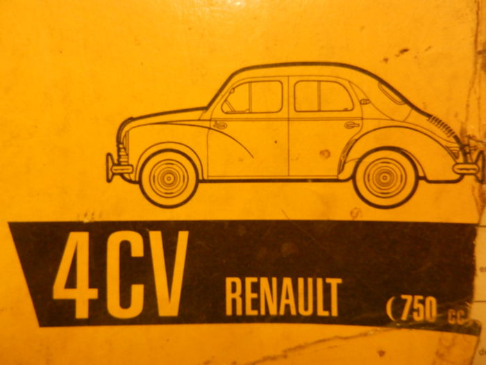 RENAULT 4CV parts catalogue 1961 and 4 Renault 4CV brochures.