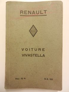 RENAULT VIVASTELLA Instruction booklet. Repair manual and parts list 120, 204 pages.