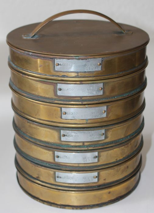 7-piece old copper stackable seven -1st half of the 20th century