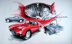 Maserati A6 GCS/53 Pinin Farina Berlinetta (1953) - Giclee Art Poster - limited edition of 12/100 copies