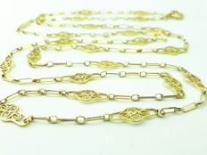 18 K Gold 106 cm Long Lady's Chain  Sautoir