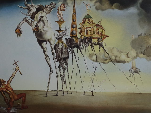 Salvador Dalí (after) - The Temptation of Saint Antonio