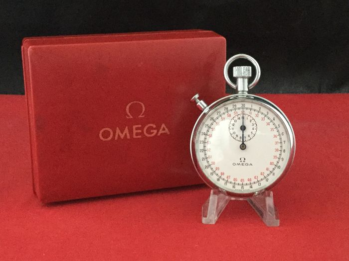 Omega Cockpit timer Flyback Function / Stopwatch Racing Dial -- 1960s -- Including original Box