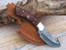 Beautiful full tang damascus steel hunting/fishing knife, Germany