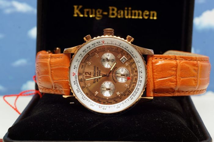 Krug Baümen Air Traveller Diamond rose gold - watch - new and unworn