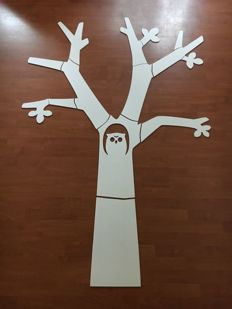 Large MDF design tree with owl