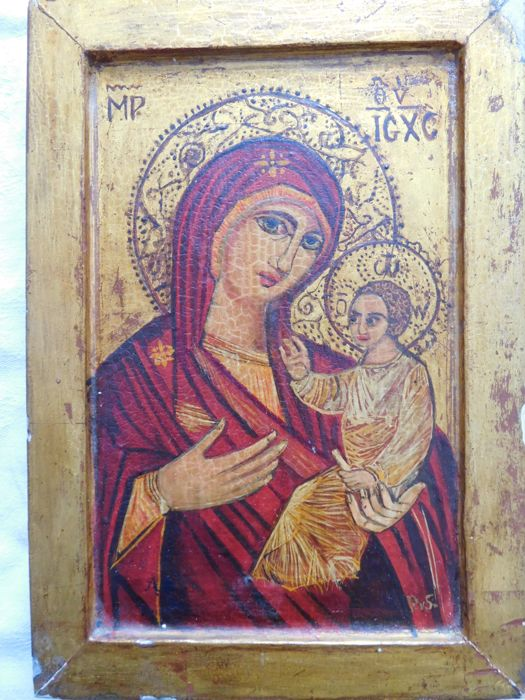 Icon, mother with child.  20th century