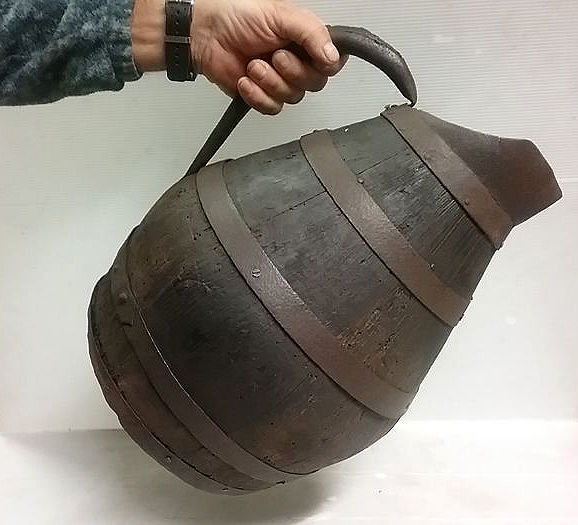 Antique 15 litres wine barrel, France, late 1800/early 1900