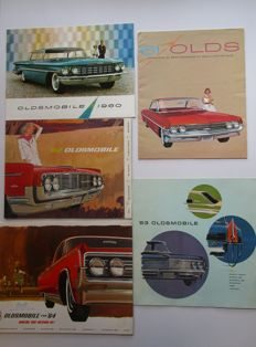Oldsmobile - Lot of 5 brochures for: 98 / 88 / Starfire / F85 / Jetfire /Jetstar / Dynamic - from 1960 to 1964