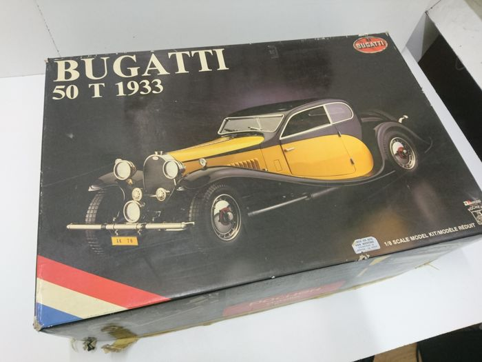 pocher-kit - scale 1/8 - bugatti 50t 1933 - yellow - catawiki