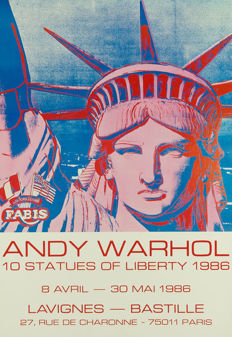 Andy Warhol (after) - 10 Statues of Liberty - 1986