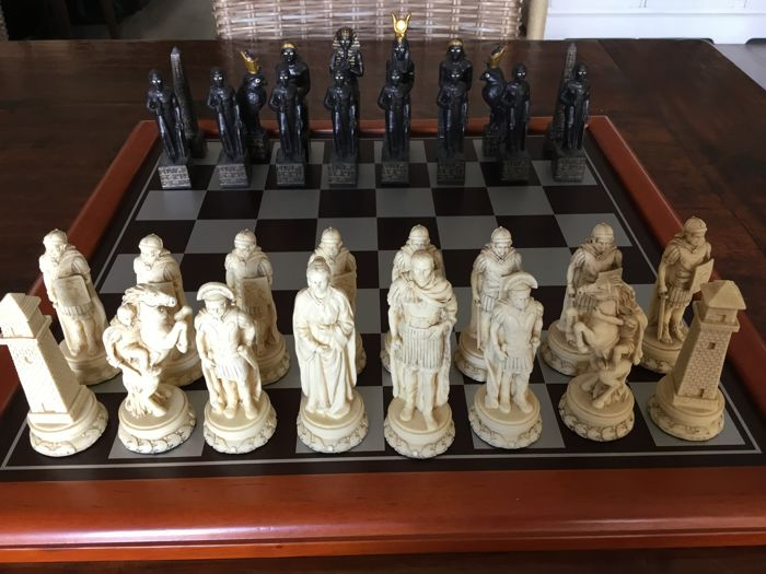 Chess game, Roman/Egypt theme. With board.