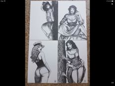 "Manara, Milo - portfolio ""Le donne"" with 15x lithographs"