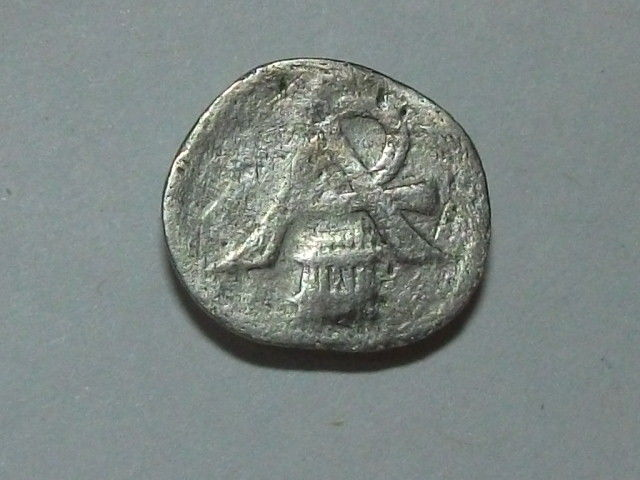 Ancient Greece - Arcadia - Arcadian League - Megalopolis - Obole AR (circa 320-275 BC).