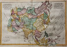 Asia; G.T. Raynal and R. Bonne - L'Asie - 1780