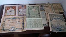 Romania ,Roumanie ,Rumanien lot of old  bonds and shares