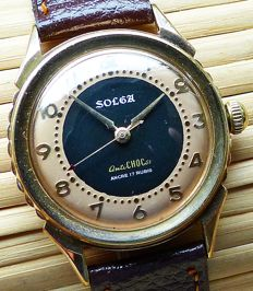 SOLGA AntiChoc 17 ruby -- men's wristwatch from the end of the 1960s -- very rare collector's item