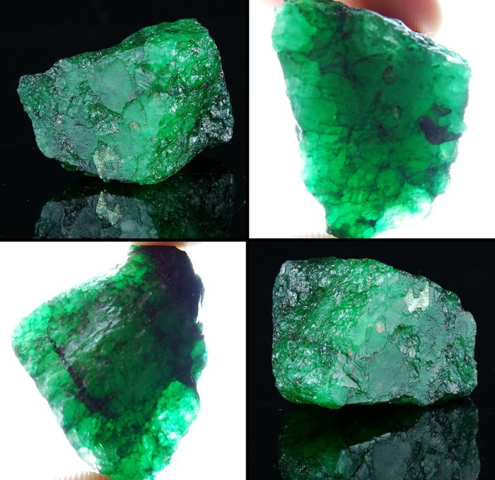 Gorgeus Green Emerald Natural Crystal - 3.3 x 2.8 x 2.2 cm - 134.15 ct - 26.82 gm