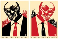 "Shepard Fairey (OBEY) - Deception & Disorder and ""Destruction & Denial"
