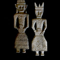 Couple of two LAMPUNG ancestor figures-SUMATRA-Indonesia