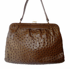 Vintage ostrich leather bag handbag ***No minimum price***