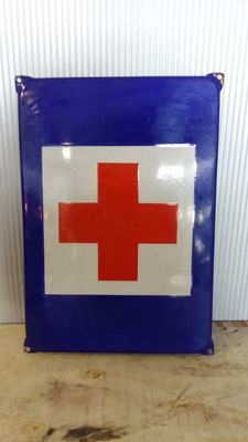 Vintage enamel sign - Red Cross